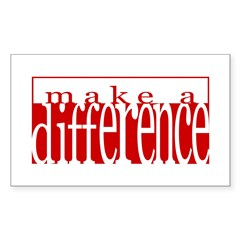 Make a Difference Rectangle Sticker
