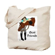 English Horse Friends Tote Bag