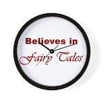Believes in Fairy Tales Wall Clock