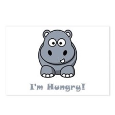 I'm Hungry Hippo Postcards (Package of 8)