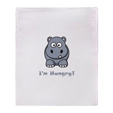 I'm Hungry Hippo Throw Blanket