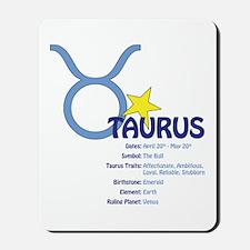 Taurus Traits Mousepad