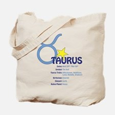 Taurus Traits Tote Bag