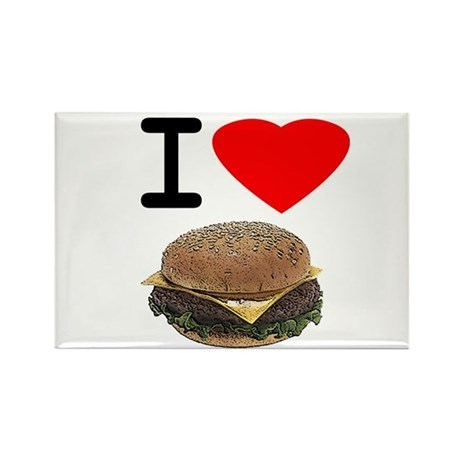 I LOVE CHEESEBURGERS Rectangle Magnet (10 pack)