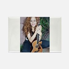 Girl acoustic guitar Rectangle Magnet