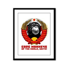 Code Monkeys of the World, Unite! Framed Panel Pri