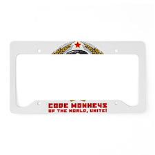 Code Monkeys of the World, Unite! License Plate Ho