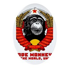 Code Monkeys of the World, Unite! Ornament (Oval)