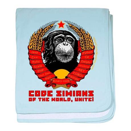 Code Simians of the World, Unite! baby blanket