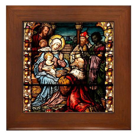 Adoration of the Magi Framed Tile