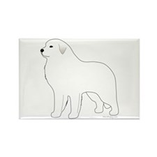 Great Pyrenees Outline Rectangle Magnet
