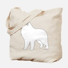 Great Pyrenees Outline Tote Bag