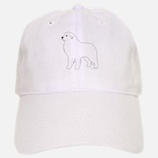 Great Pyrenees Outline Baseball Baseball Cap