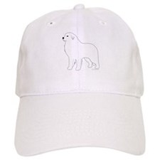 Great Pyrenees Outline Baseball Cap