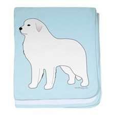 Great Pyrenees Outline baby blanket