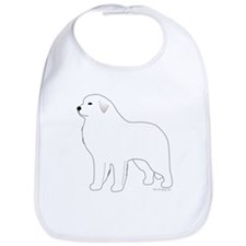 Great Pyrenees Outline Bib