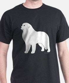 Great Pyrenees Outline T-Shirt