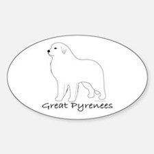 Great Pyrenees Sticker (Oval)