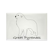 Great Pyrenees Rectangle Magnet