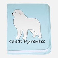 Great Pyrenees baby blanket