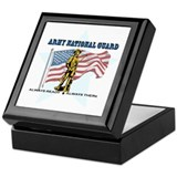 Army national guard Square Keepsake Boxes