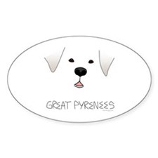 Great Pyrenees Face Decal
