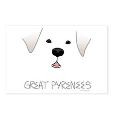 Great Pyrenees Face Postcards (Package of 8)