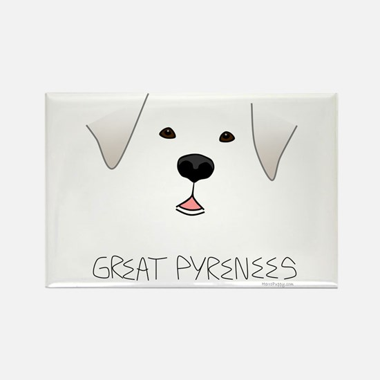 Great Pyrenees Face Rectangle Magnet