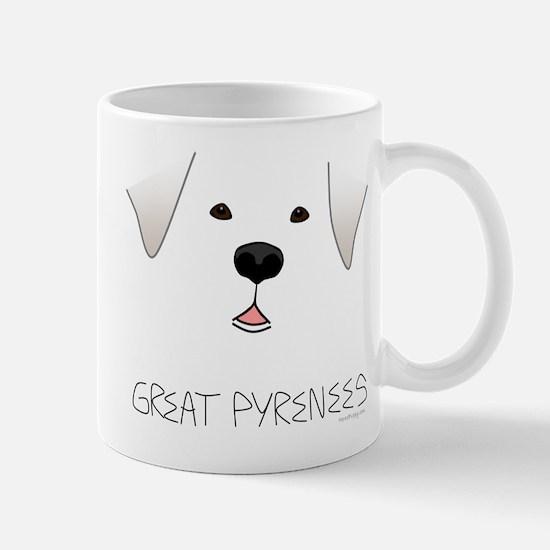 Great Pyrenees Face Mug