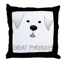 Great Pyrenees Face Throw Pillow