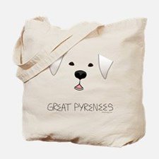 Great Pyrenees Face Tote Bag