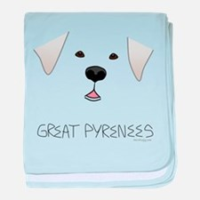 Great Pyrenees Face baby blanket
