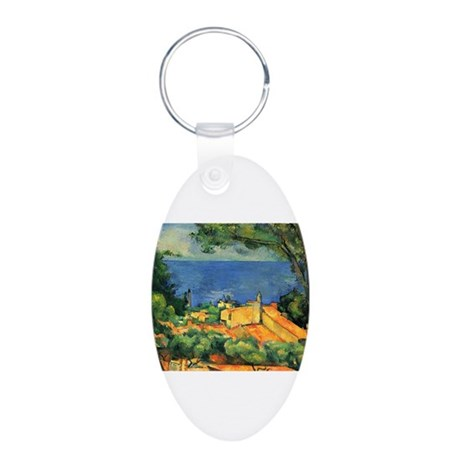 Cézanne Artzsake Aluminum Oval Keychain
