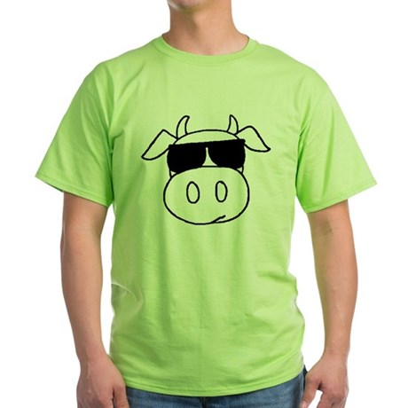 Cow Head Green T-Shirt