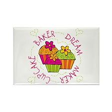 Cupcake Baker Dream Maker Rectangle Magnet