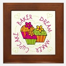 Cupcake Baker Dream Maker Framed Tile