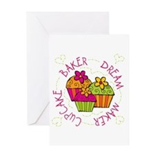 Cupcake Baker Dream Maker Greeting Card