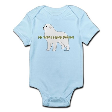 My Nanny is a Great Pyrenees Infant Bodysuit