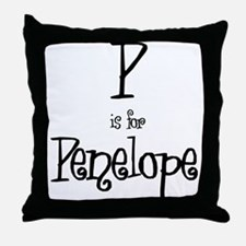 P Is For Penelope Throw Pillow