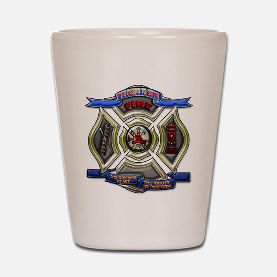 Fire Desire, Courage, Ability Shot Glass