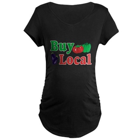 Buy Local Maternity Dark T-Shirt