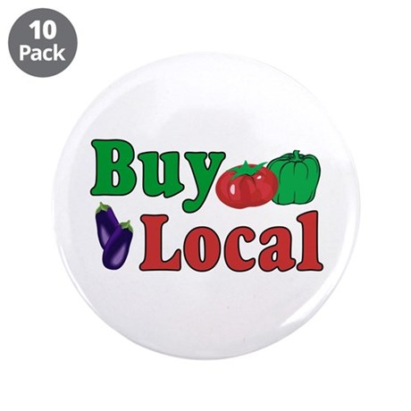 "Buy Local 3.5"" Button (10 pack)"