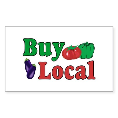 Buy Local Sticker (Rectangle)