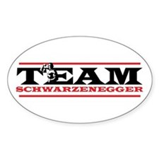 Team Schwarzenegger Oval Decal