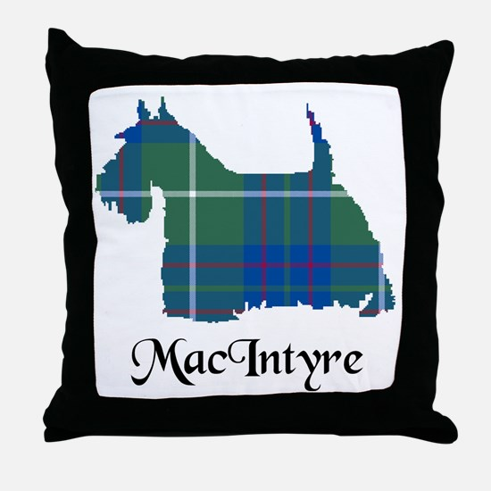 Terrier-MacIntyre hunting Throw Pillow