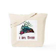 I Am Three Locomotive Tote Bag