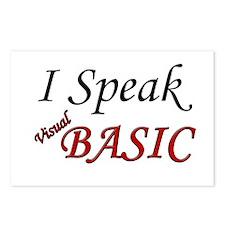 """I Speak Visual Basic"" Postcards (Package of 8)"