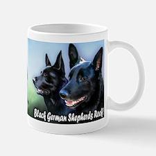 Black German Shepherds Rock Mug