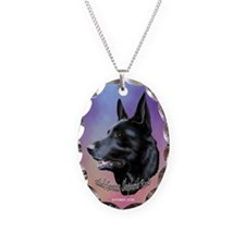 Black German Shepherds Rock Necklace