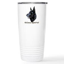 Black German Shepherds Rock Travel Mug